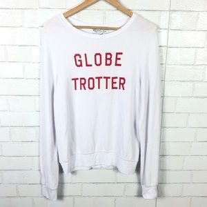 NEW Wildfox Globe Trotter Baggy Beach Jumper